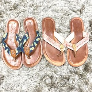 Two pairs of nautica thong sandals size 6.5